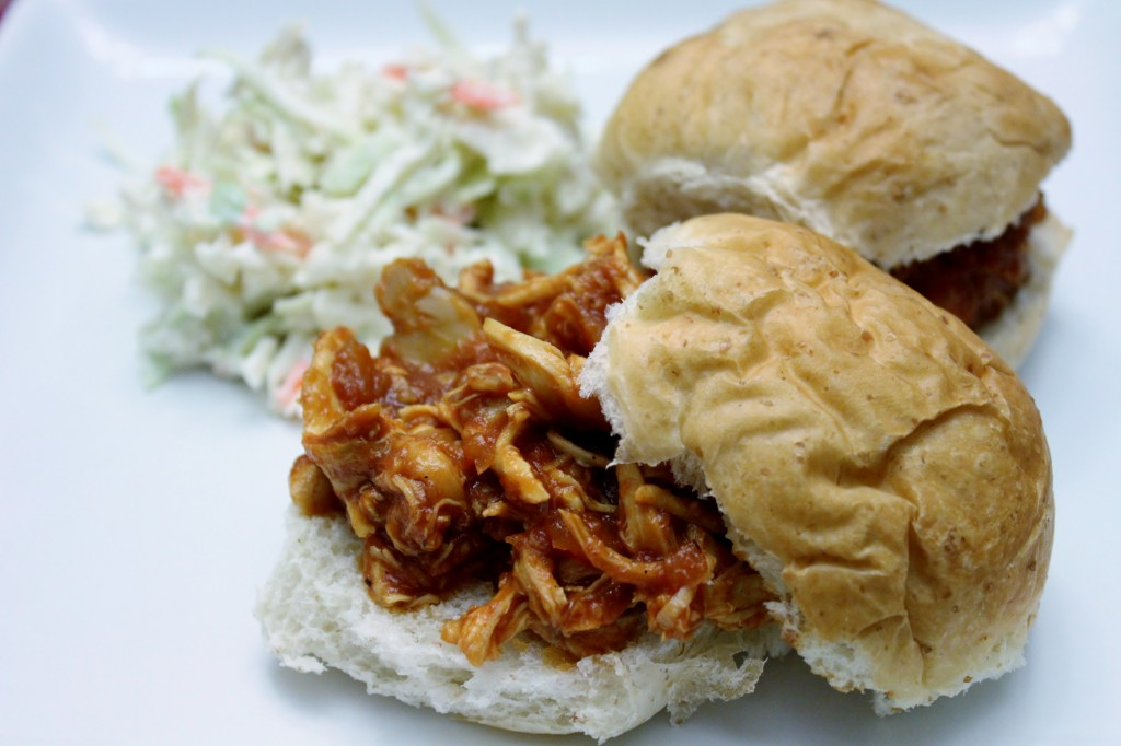 BBQ Chicken Sandwiches & Quick Cole Slaw - Brittany's Pantry ...