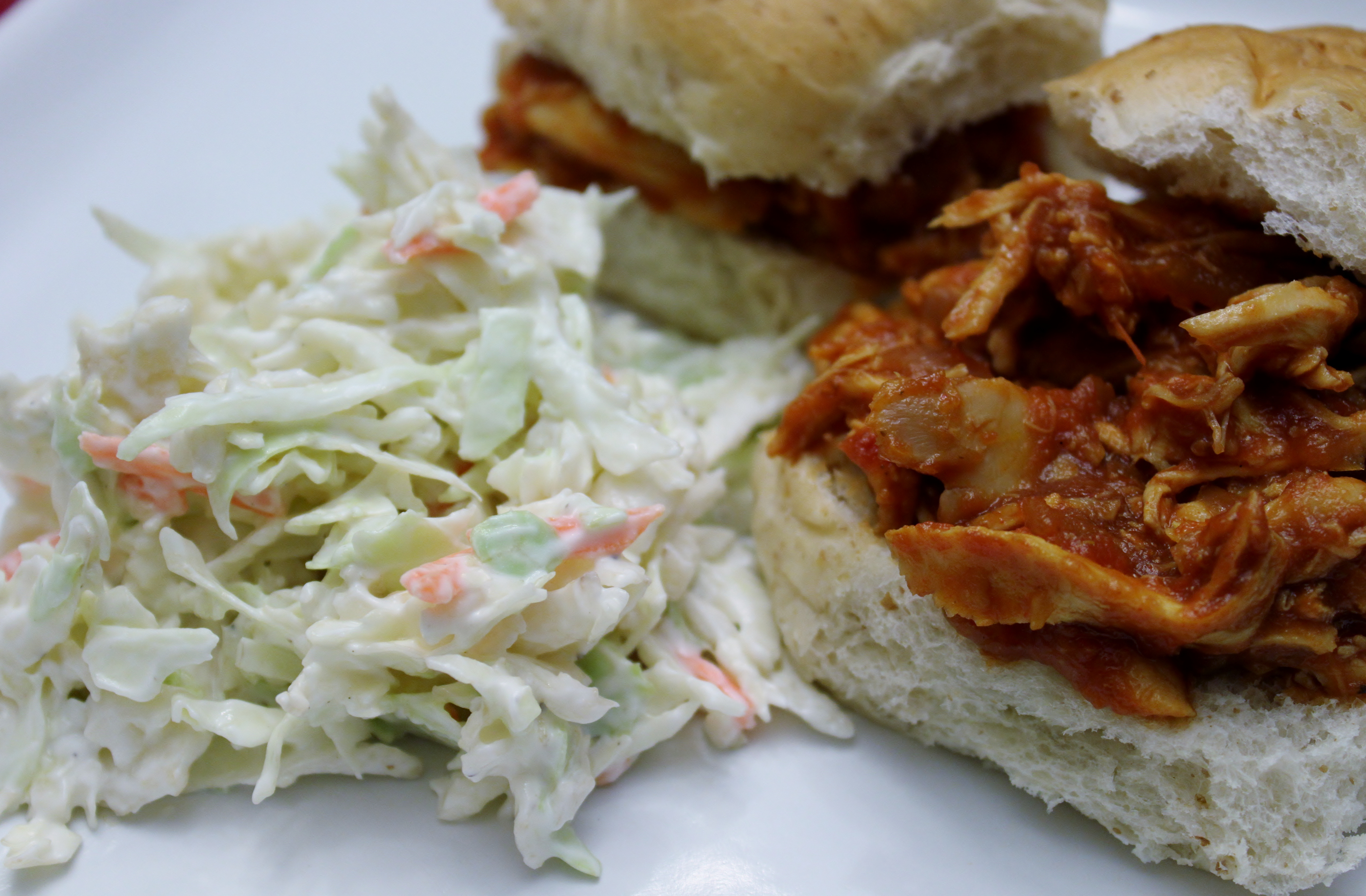 BBQ Chicken Sandwiches & Quick Cole Slaw : Brittany's Pantry