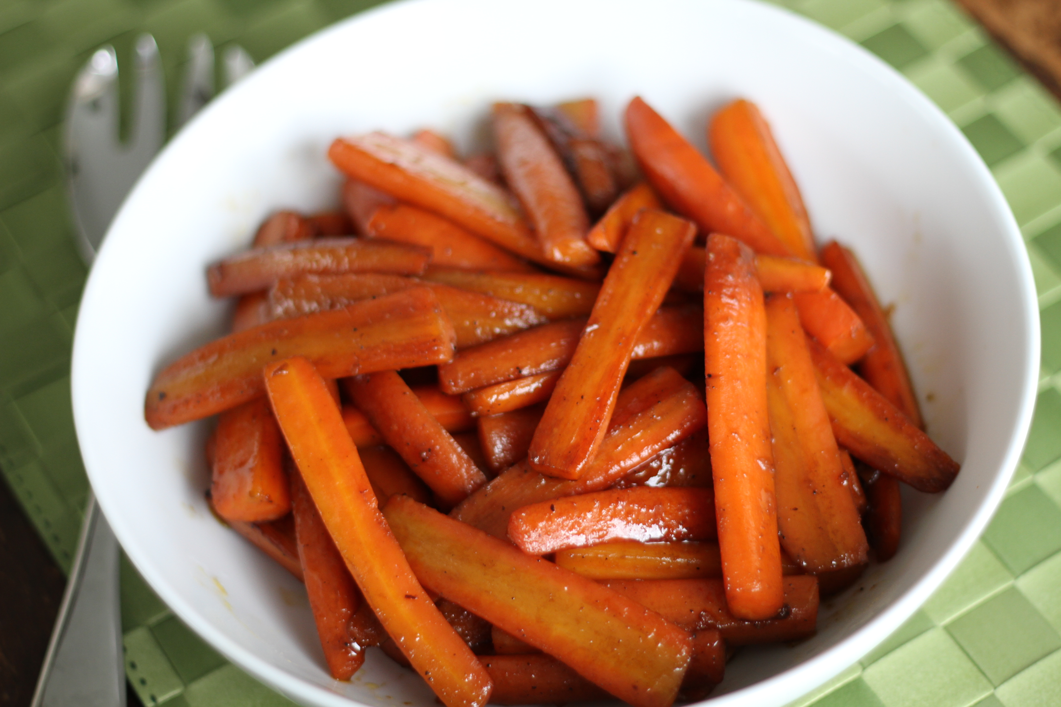 Pomegranate Glazed Carrots : Brittany's Pantry