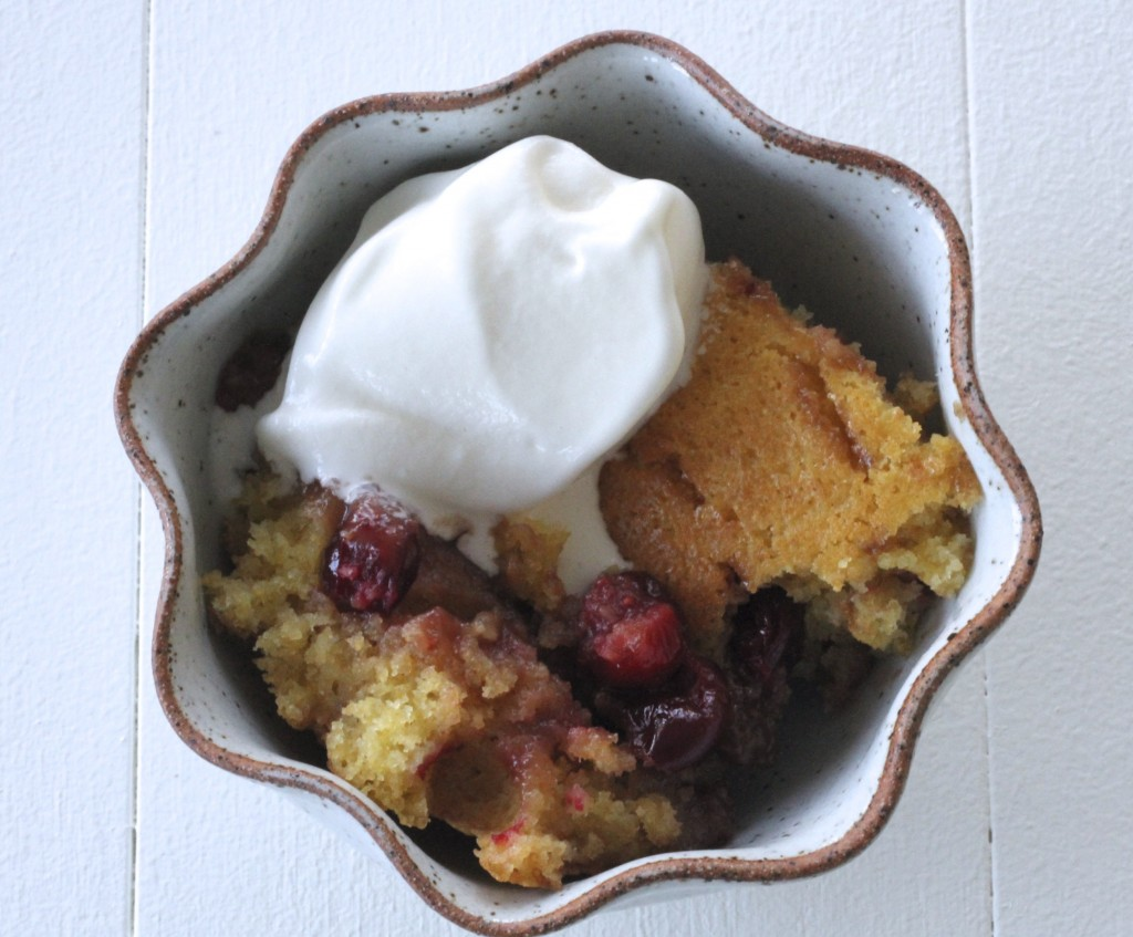 Cranberry Maple Pudding Cake
