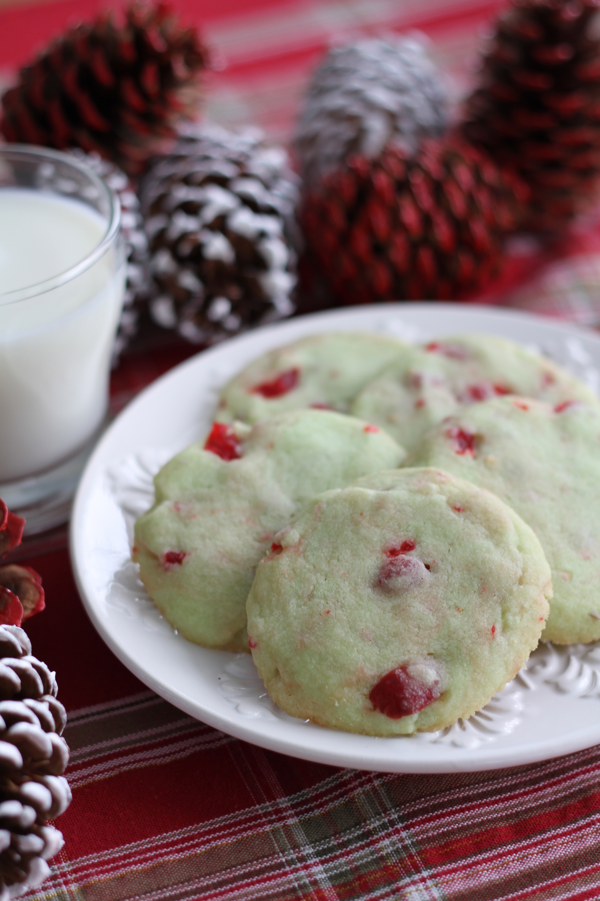 Cherry Pistachio Butter Cookies : Brittany's Pantry
