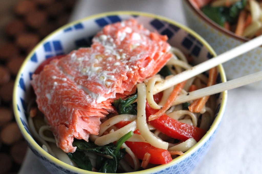 Salmon Noodle Bowl