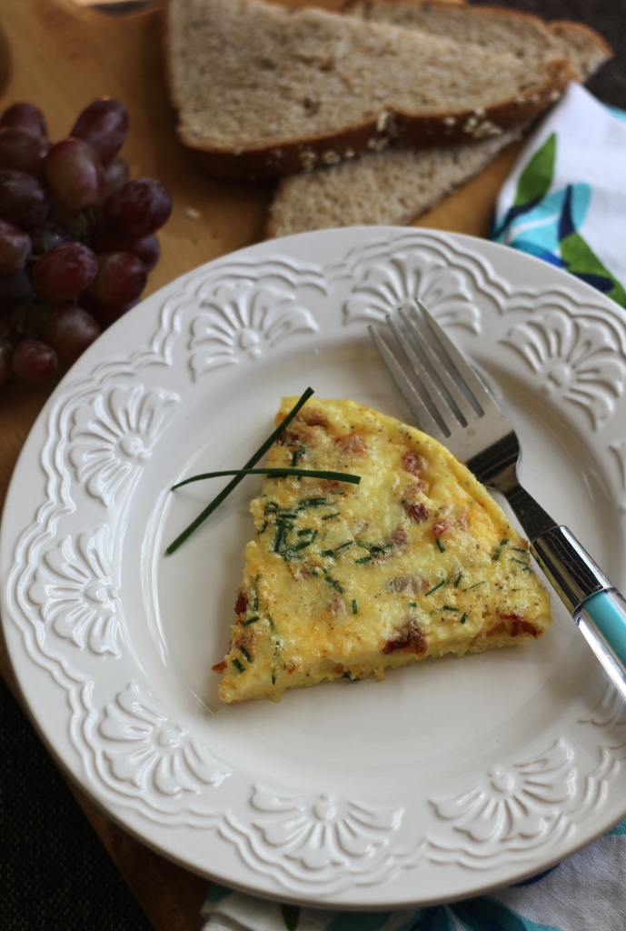 Crustless Sun-Dried Tomato Quiche | Brittany's Pantry