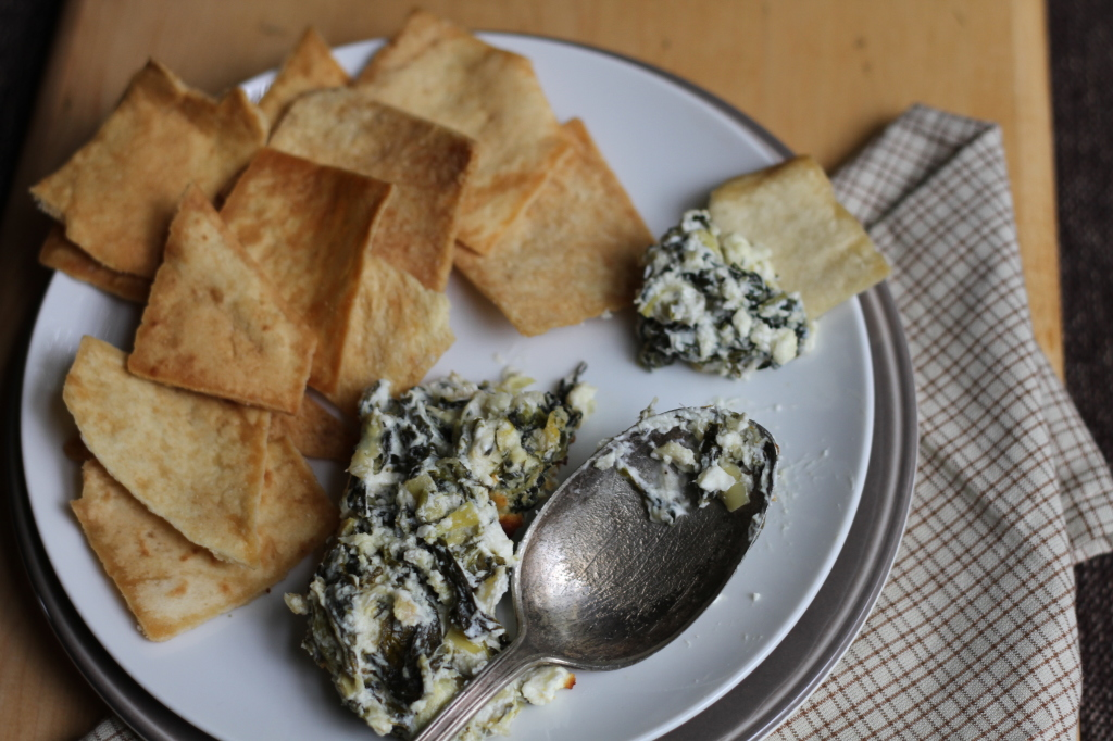 Spinach & Feta Artichoke Dip is tangy and wonderful for holiday parties!