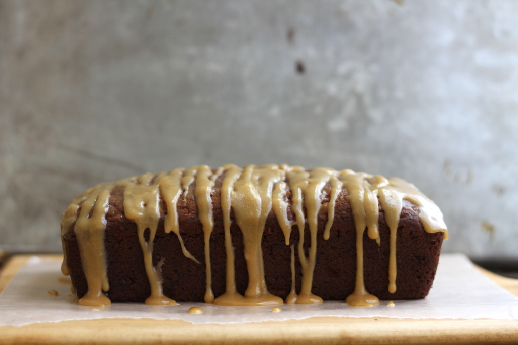 Caramel Apple Ginger Loaf Cake is the special treat you have been looking for! {Brittany's Pantry}