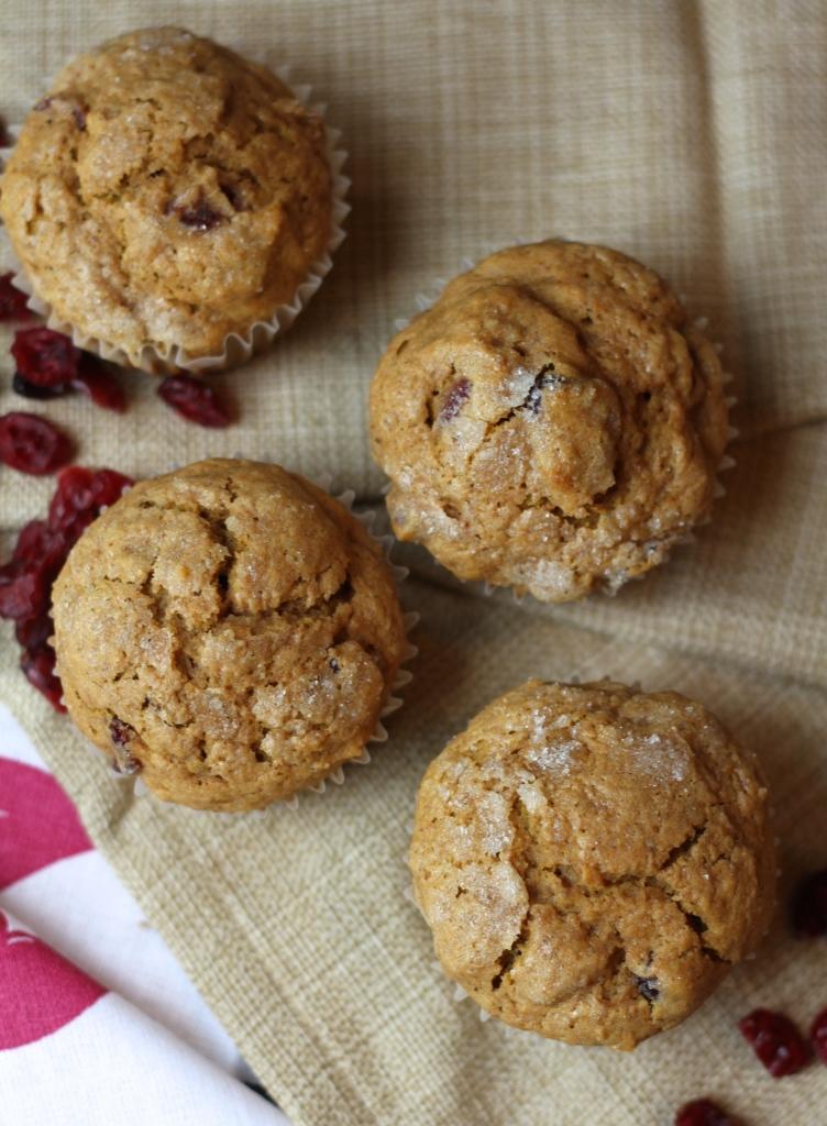 Cranberry Orange Pumpkin Spice Muffins via Brittany's Pantry