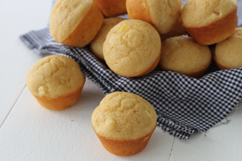 Mini Corn Muffins from Brittany's Pantry