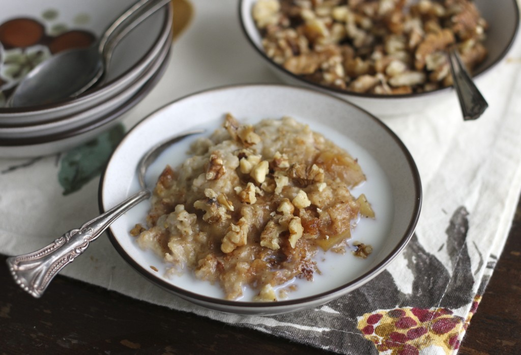 Crockpot-Slowcooker-Apple-Cinnamon-Oatmeal from Brittany's Pantry