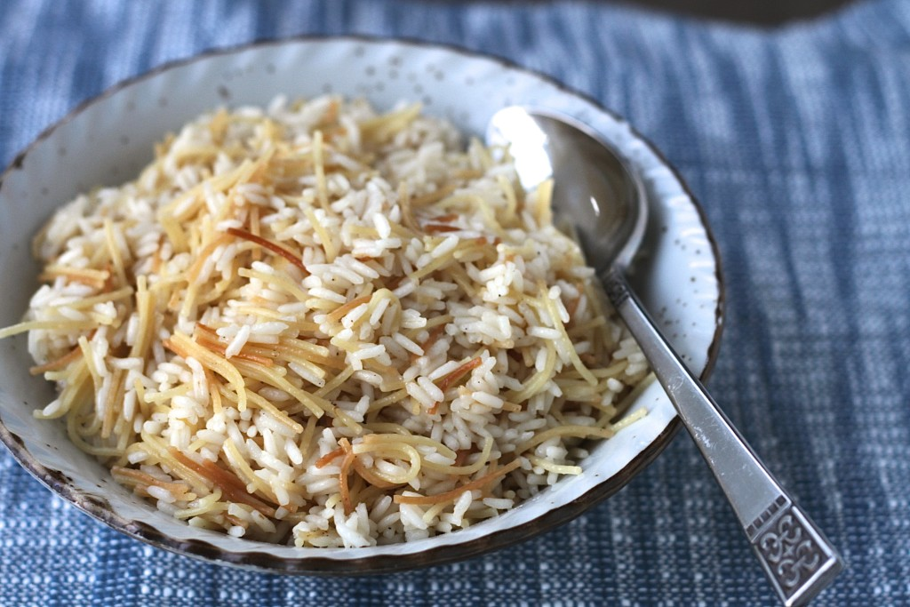 Rice and Noodle Pilaf is a quick side dish to make anytime! {Brittany's Pantry}