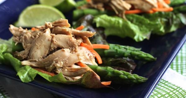 Quick-Chicken-Asparagus-Lettuce-Wraps-Brittany's-Pantry